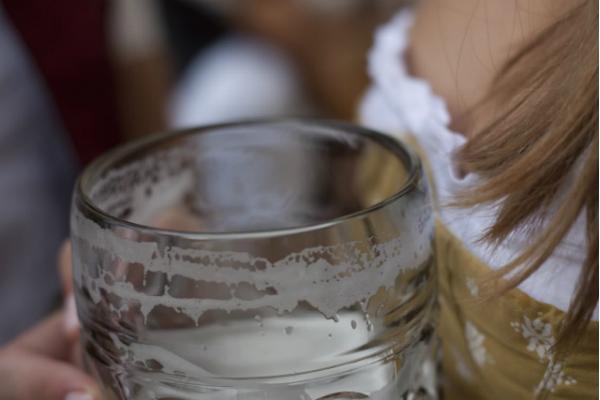 Oktoberfest, eine Maß Bier