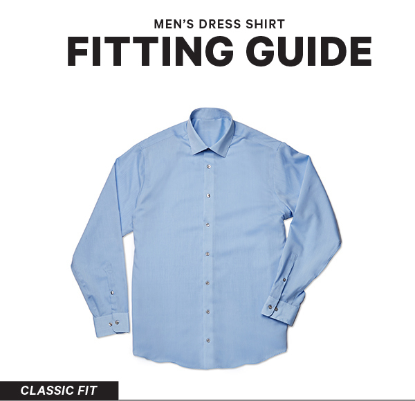 eb18ba3ae72 Men s Dress Shirts Sizes and Fits