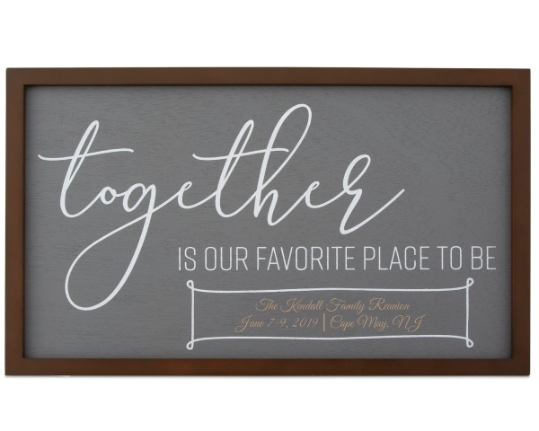 Customized Together Wall Plaque