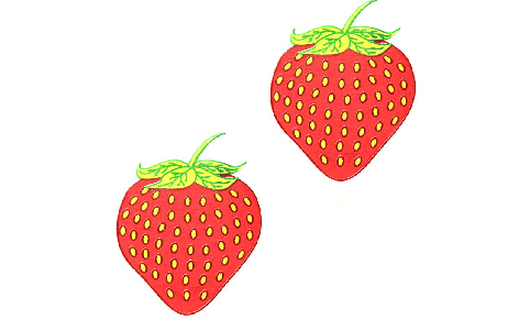 Edible Pasties in Strawberry