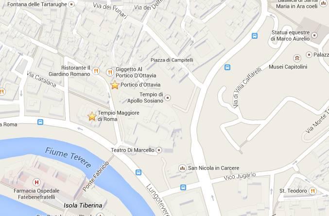 mappa ghetto roma