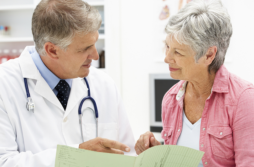 Woman consulting with doctor about Dysport