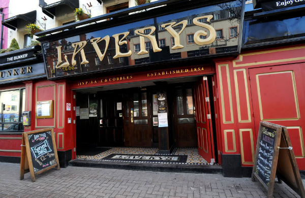 Outside Lavery's Belfast