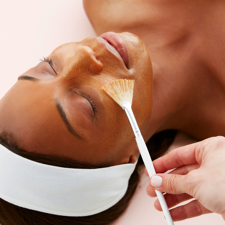 woman getting facial
