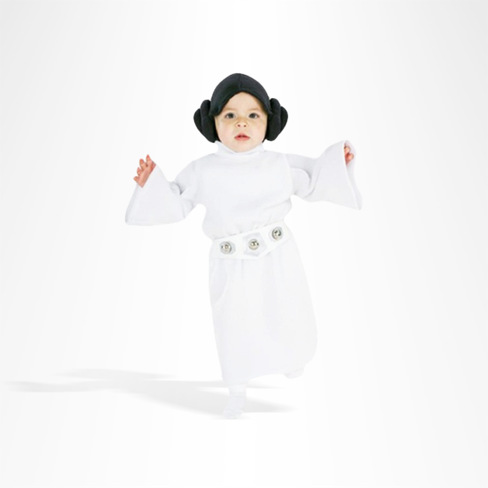 Toddler in Princess Leia costume