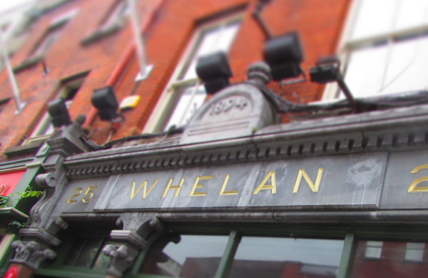 The exterior of Whelan's Live Music Venue in Dublin