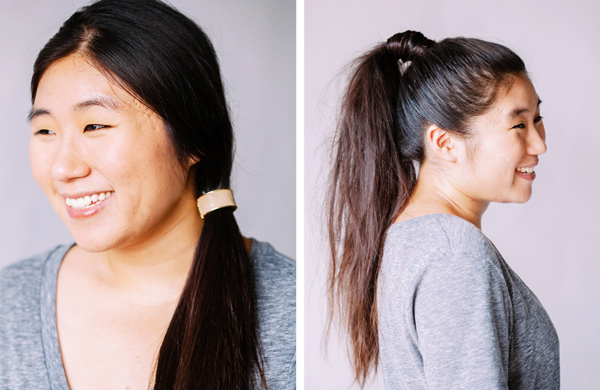 One Trend, Two Ways: Ponytails