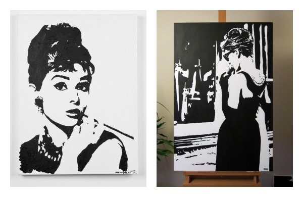 Audrey Hepburn monochrome