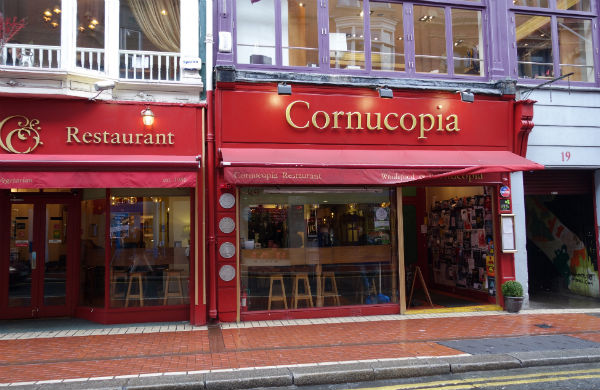 Exterior of Cornucopia Restaurant in Dublin