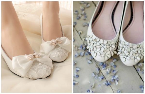 scarpe basse sposa inverno