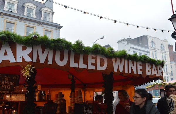 mulled wine at the dublin christmas market
