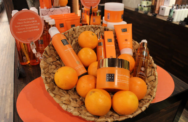 Basket of beauty products
