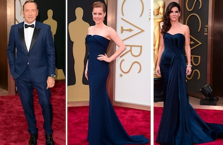 On the Red Carpet, Navy Is the New Black