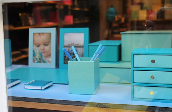 Stationary in the window of Prints