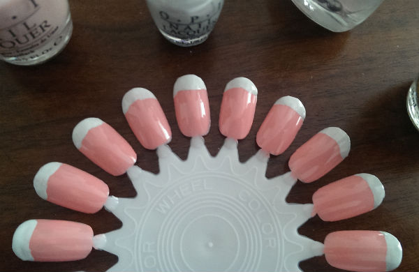 White tips on nails for French Manicure