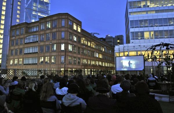 Open air cineman in London