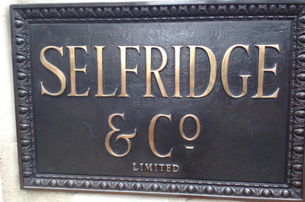 The Selfridges and co sign