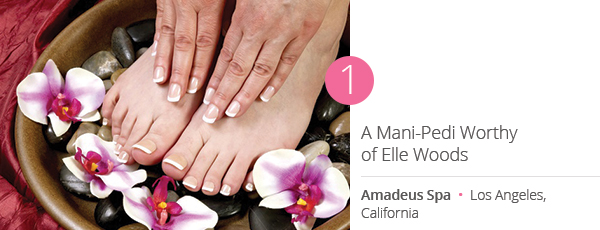 A Mani-Pedi Worthy of Elle Woods at Amadeus Spa