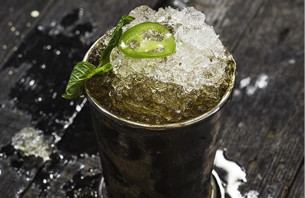 Recipe for a Jalapeño-Spiked Bourbon Julep