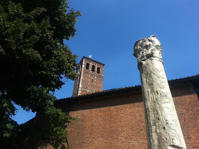 Sant'Ambrogio e la colonna del diavolo