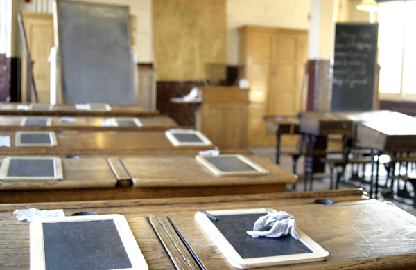 Victorian classroom at the Ragged School Museum in London
