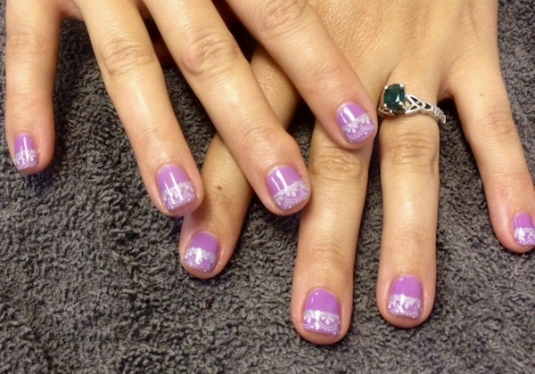 french lace manicure