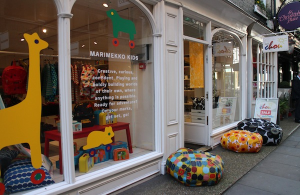 The exterior of the Marimekko shop in St Christopher's Place