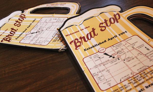 Brat Stop menu