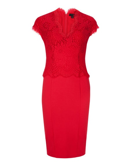 Ted Baker's Sarvani Red Lace Dress