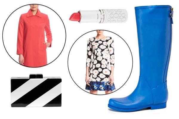 rain boots graphic collage