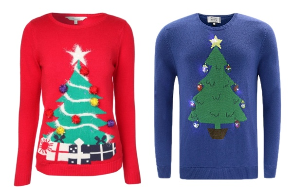 light up flashing christmas jumpers