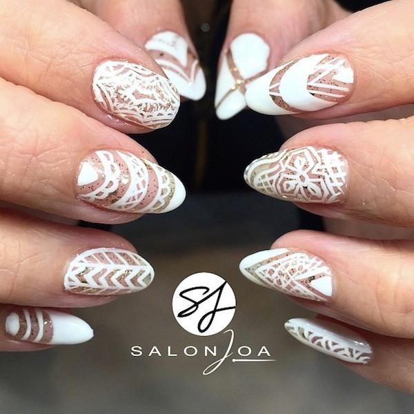 glitter and lace mani