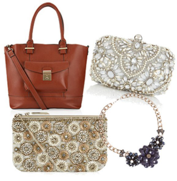 Collage of handbags
