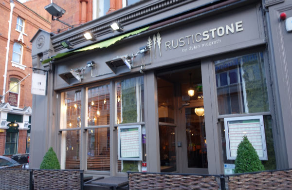 Exterior of the Rustic Stone restaurant in Dublin