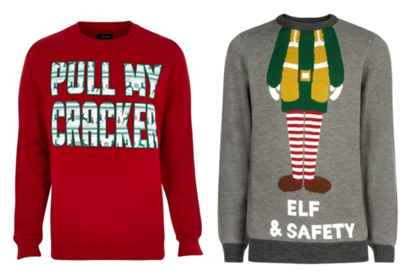 slogan xmas jumpers