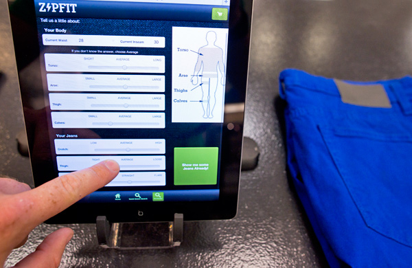 Smarty-Pants: ZipFit Denim's Algorithm Finds Form-Fitting Men's Jeans in Minutes