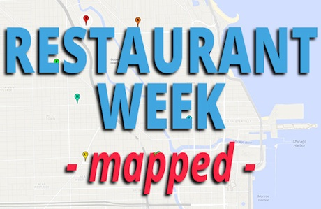 Restaurant Week Mapped Out