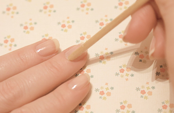 Push your cuticles back