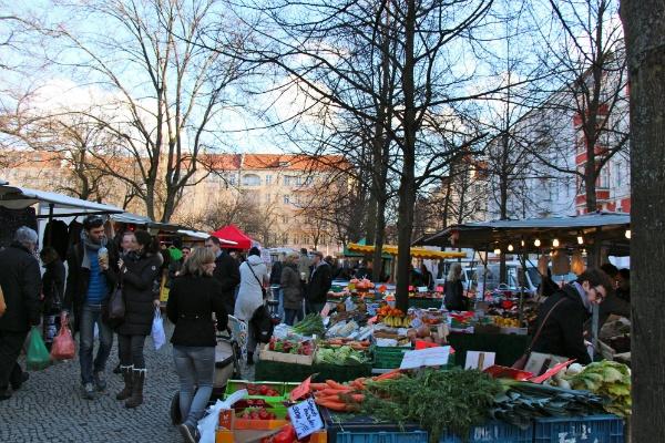 Markt auf dem Boxhagener Platz
