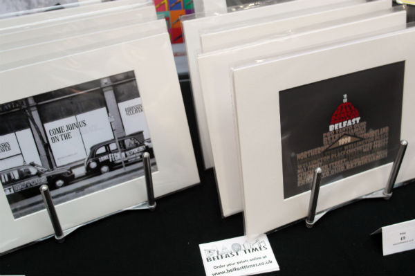 Art by Belfast Blogger 'The Belfast Times' being sold at St George's Sunday Market