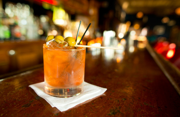 Wisconsin Old Fashion at Weegee's Lounge in Logan Square