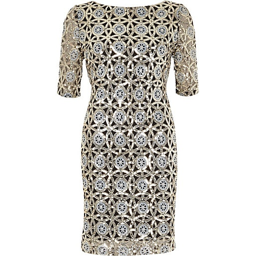 River island metallic dress