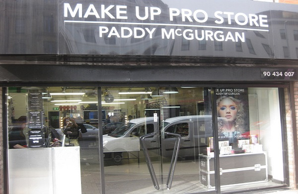 The exterior of Make Up Pro Store in Belfast