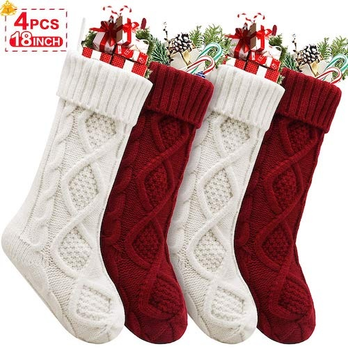 Amazon Cable Knit Stockings