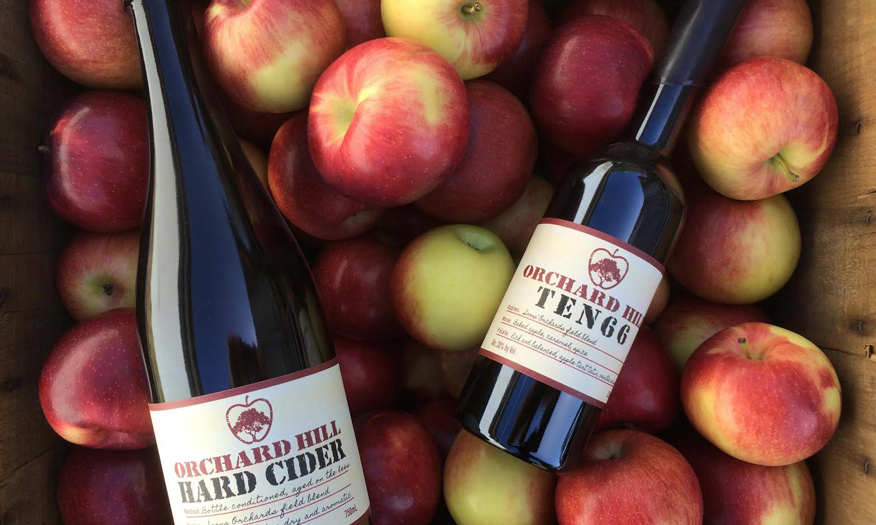 Bottles of Ten66 Pommeau from Orchard Hill Cider Mill