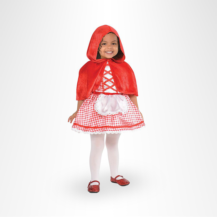 Girl in Little Red Riding Hood costume