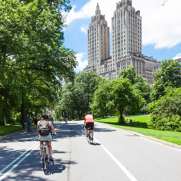 bike trails in central park in new york