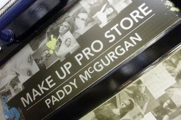 A sign saying 'Make Up Pro Store Paddy McGurgan'