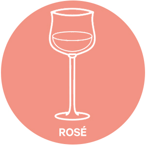 Rose style wine glass