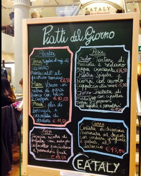 Eataly Firenze piatti del giorno